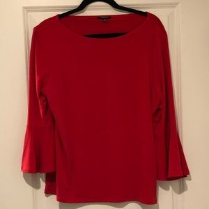 Premise 3/4 sleeve blouse- coral